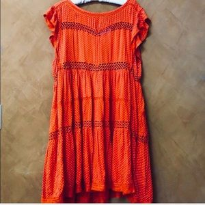 Free people adorable pumpkin dress size S NWT